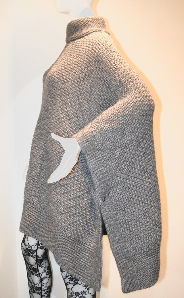 Maxi Poncho Set  Color Gris - Espiritu Folk Inc.