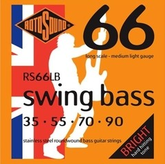 Encordado Bajo 4 Cuerdas Rotosound Swing Bass Rs66lb 035-090