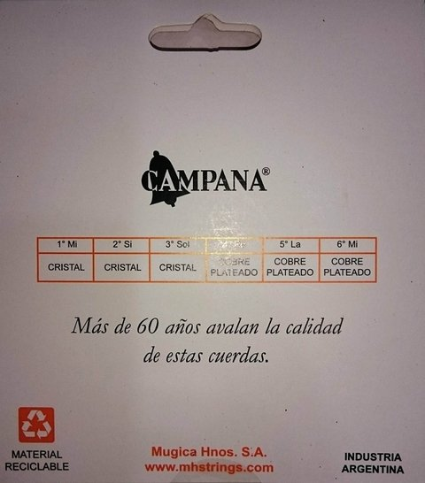 Encordado Campana Export Guitarra Clásica Cex 20