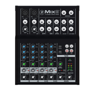 Mixer Compacto 8 Canales Mackie Mix8