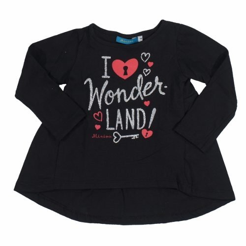 Remera Nena Estamp Brillos Wonderland M/ Larga Regalosdemama