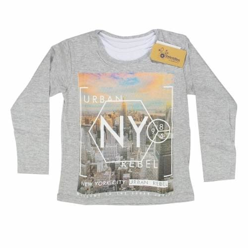 Remeras Nene Varón New York Doble Cuello Regalosdemama - comprar online