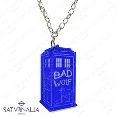 Collar Tardis Bad Wolf - Doctor Who