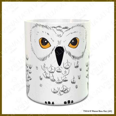Taza porcelana Hedwig - HARRY POTTER OFICIAL