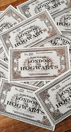Imán decorativo Ticket London to Hogwarts - HARRY POTTER OFICIAL - comprar online