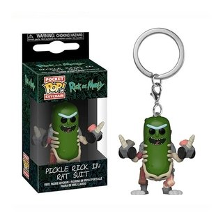 Funko POP Keychain - Pickle Rick in rat suit - Rick and Morty