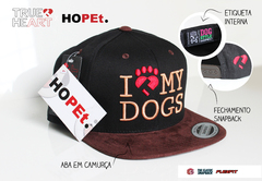 Boné I LOVE MY DOGS (preto)