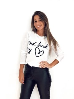 Remera cod 2146 dont break my heart en internet