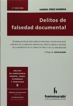 Delitos de falsedad documental   PÉREZ BARBERÁ -