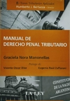 Manual de Derecho Penal Tributario Autor Manonellas Graciela