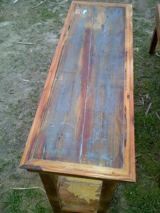 mesa de arrime madera reciclada