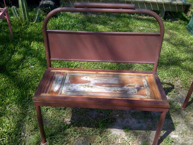 Banco de hierro y madera comprar en santomercado - Camas de hierro antiguas ...