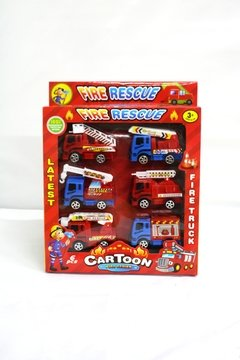 SET BOMBERO CARTOON 837