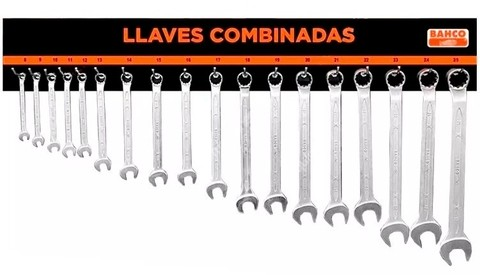 Tablero Llaves Bahco Combinadas 8 A 25 Mm Panel