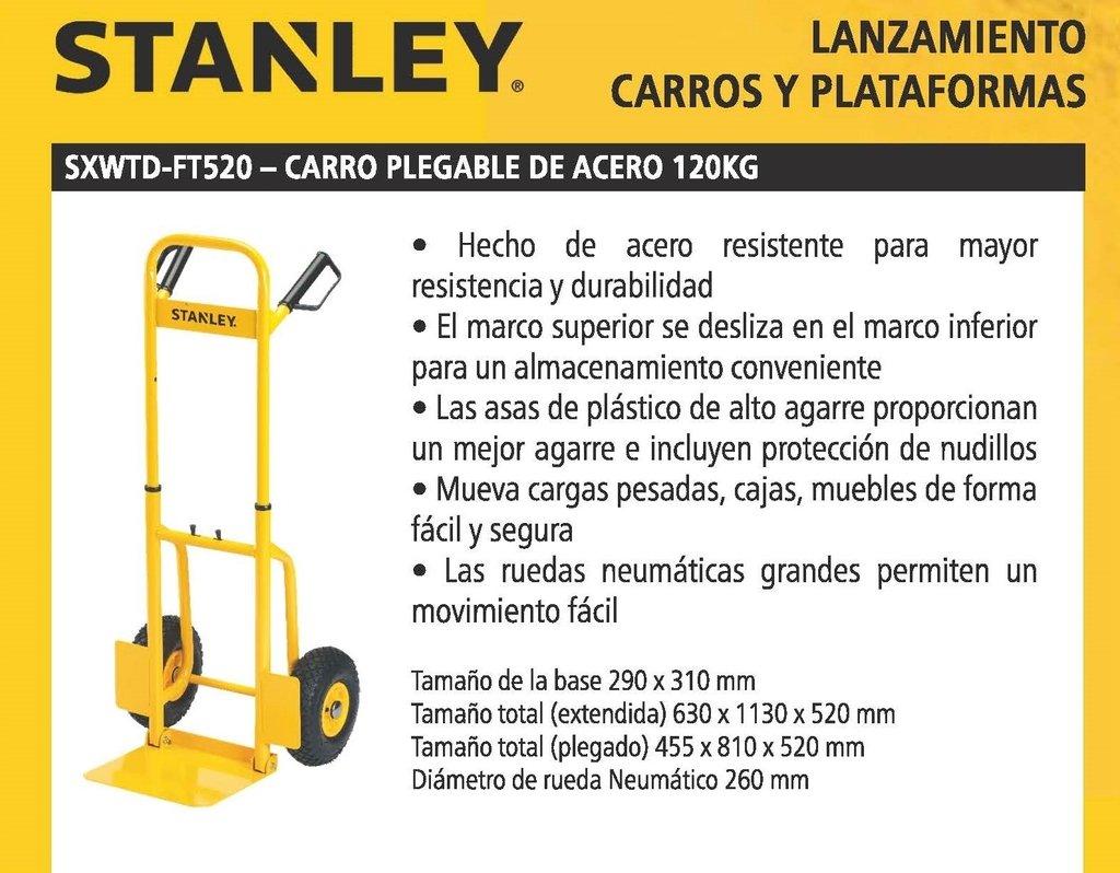 Carro Plegable Acero Stanley SXWTD-FT520 hasta 120 kg.