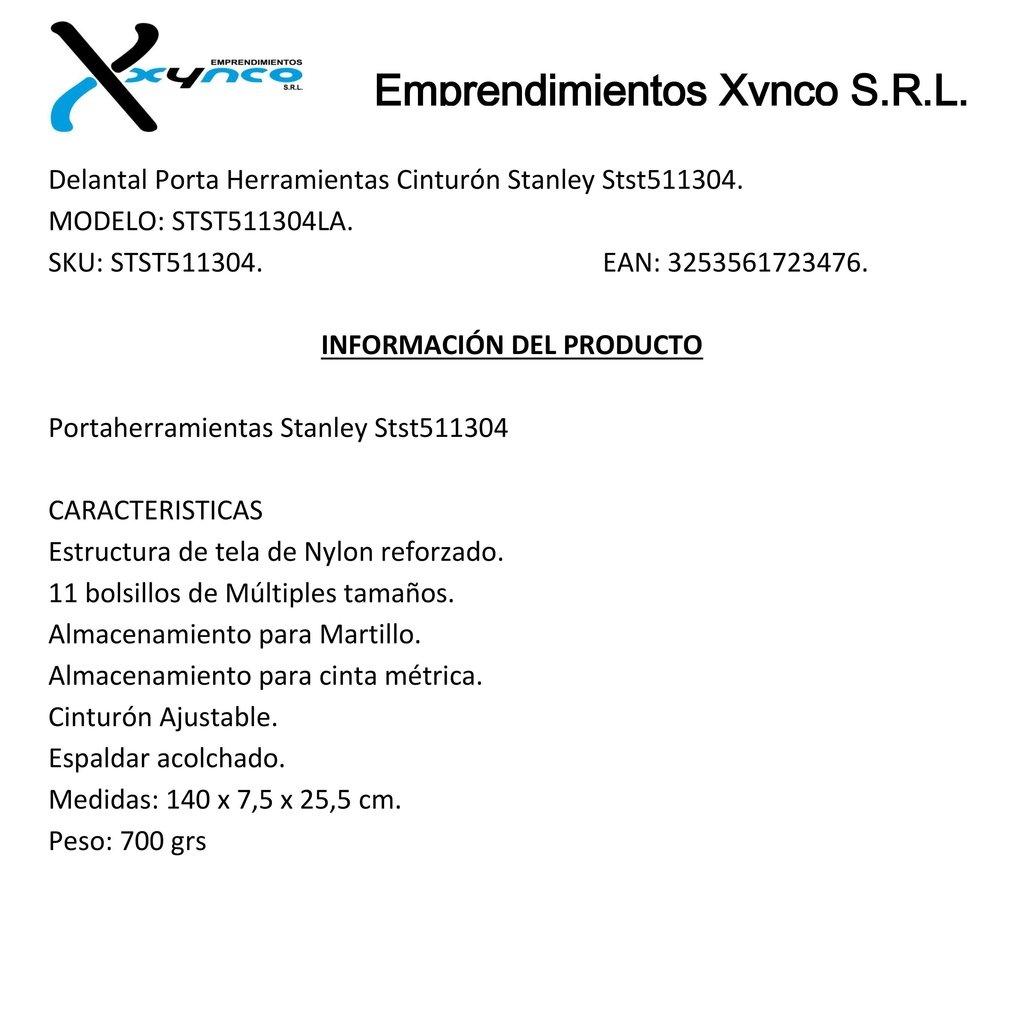 Delantal Porta Herramientas Cinturón Stanley Stst511304. e7b614870bcb