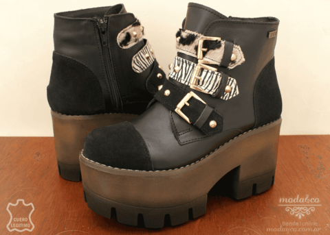 Bota Anca & Co. 7504-2 Negro