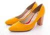 Stiletto Gamuzado Amarillo