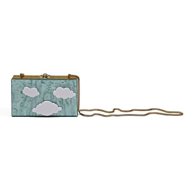 EVA CLUTCH LIGHT GREEN - comprar online