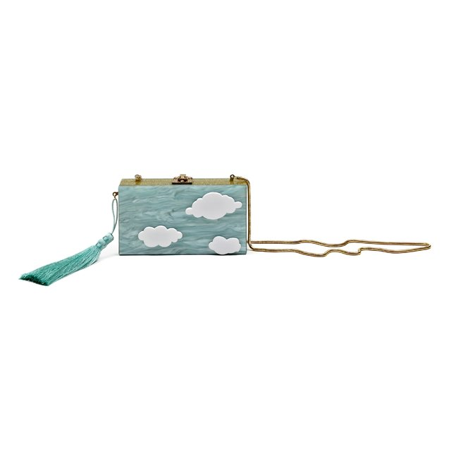 EVA CLUTCH LIGHT GREEN - MERRY JACKIE ACCESSORIES