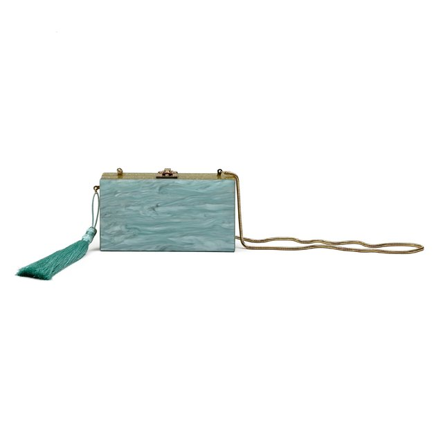 EVA CLUTCH LIGHT GREEN - loja online