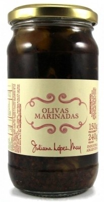 Olivas marinadas Juliana Lopez May x 240gr