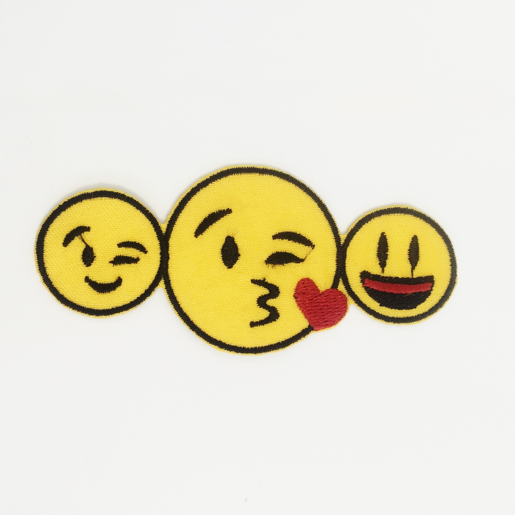 Patch Emoticons Whatsap| Aplique Fashion em tecido termocolante