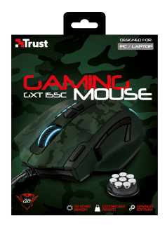 MOUSE GXT 155C GAMING GREEN CAMO TRUST