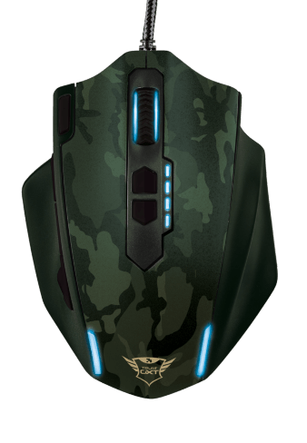 MOUSE GXT 155C GAMING GREEN CAMO TRUST - comprar online
