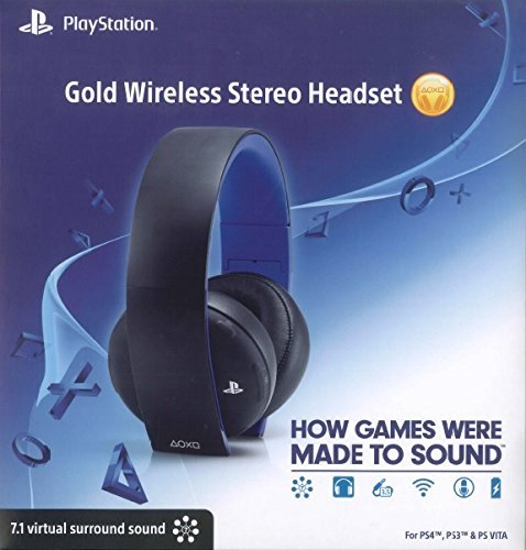 GOLD WIRELESS STEREO HEADSET - PS4 - PS3 - PS VITA en internet