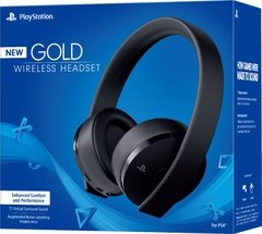 GOLD WIRELESS STEREO HEADSET - PS4 - PS3 - PS VITA