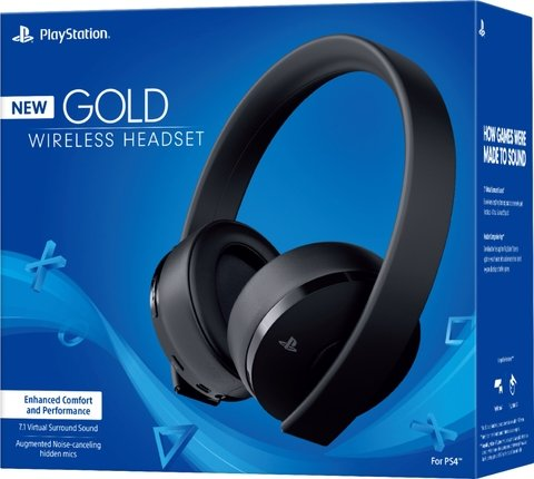 GOLD V2 WIRELESS STEREO HEADSET - PS4 - PS3 - PS VITA