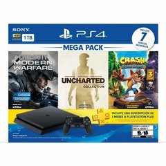 PLAYSTATION 4 1TB + CALL OF DUTY MW / UNCHARTED COL  / CRASH BANDICOOT TRILOGY