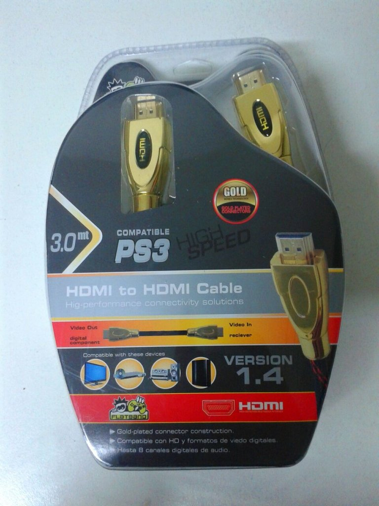 CABLE HDMI 1.4 FLATBAND