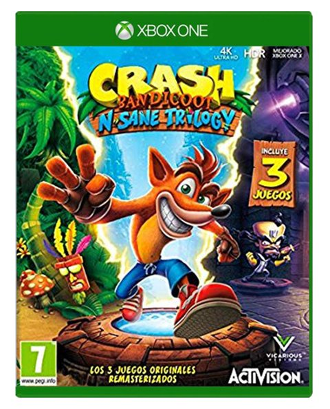 CRASH BANDICOOT N. SANE TRILOGY XBOX ONE - comprar online