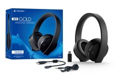 GOLD WIRELESS STEREO HEADSET - PS4 - PS3 - PS VITA - Play For Fun