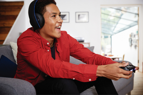 GOLD WIRELESS STEREO HEADSET - PS4 - PS3 - PS VITA - tienda online
