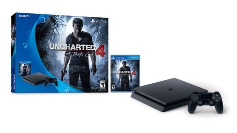 PLAYSTATION 4 SLIM 500GB + UNCHARTED 4