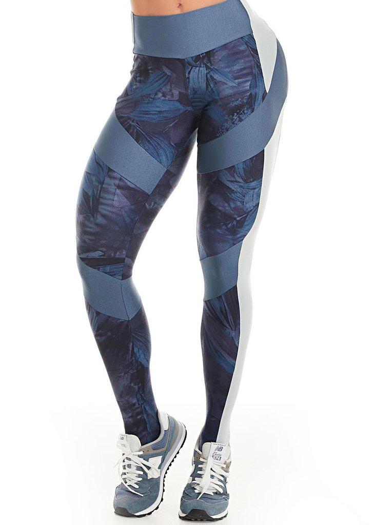 de3cbb510 Calça Legging New Garden Azul Lets Gym L782