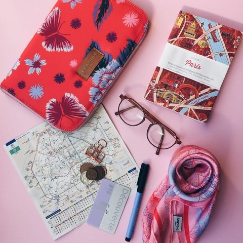Travel Pocket Flores Rojo - The Dignani´s