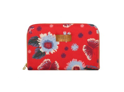 Travel Pocket Flores Rojo - comprar online