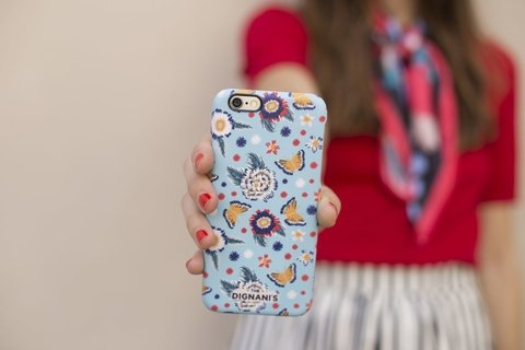 iPhone Case Bordado celeste - comprar online
