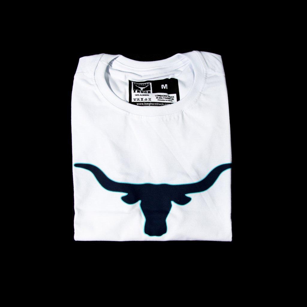 Camiseta Longhorn Truck - Branca e Azul (Frete Grátis) 16b958afbf0