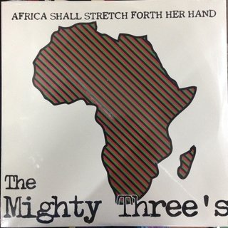 LP THE MIGHTY THREE'S (DUPLO) AFRICA SHALL STRETCH FORTH HER HAND