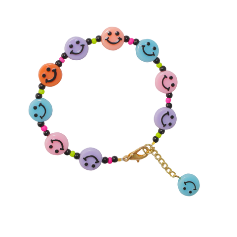 Pulseira Smiley Colorida