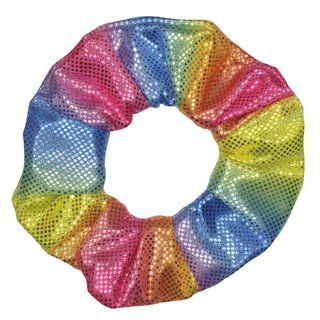 Scrunchie Metalic Rainbow