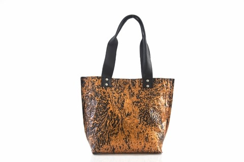 Iskin Cartera Shopping Bag Small - Tote - Cobre
