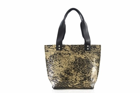 Iskin Cartera Shopping Bag Small - Tote - Oro - comprar online