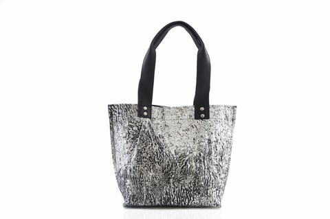 Iskin Cartera Shopping Bag Small - Tote - Plata