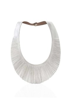 Collar Brigitte - de Cuero con Flecos - Trendy - Fashion - Design en internet